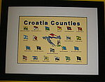 Croatia Complete Set of flag Badges, All Croatia Countries Flags
