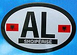 Albania Car Sticker, Flag Decal International, Oval Sticker, Bumperbar sticker, Albania
