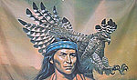 Red Indianw Eagle Flag, Red Indian Eagle Fahne