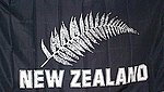 Silver Fern Flag, All Black Flag, Fahne Silverfern, Flagge