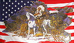 Red Indian on Horseback flag, fahne