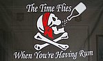 The time flies when you're having rum flag, flagge piraten fahne
