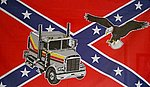 Truck on Rebel flag, rebel flag with Truck, Lastwagen Fahne