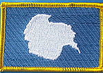 Antarctica Iron on Patch, Identifications pactch Antarctica