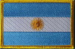 Argentina Flag Patch, country patch argentina, iron on patch Argentina, Argentina identifications patch
