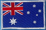 Australia Flag Patch, Iron on Patch. Sewn on flag patch