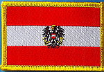 Austria flag patch, country patch austria, Iron on patch Austria