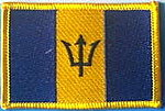 Barbados Flag Patch, Country Patch Barbados, Iron on Patch Barbados, Barbados Identifications patch