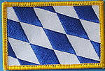 Bavaria German state flag patch, Bayern Fahnen patch