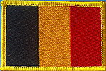 Belgium flag patch, country flag patch Belgium, Belgien fahne,