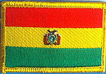 Bolivia Flag Patch, Counry patch bolivia