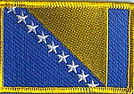 Bosnia Flag Patch, Country Patch Bosnia, Bosnia Herzogewina patch