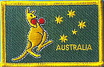 Bpxing Kangaroo flag patch, iron on patch boxing kangaroo