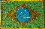 Brazil flag patch, Country Patch Brasil, Brazil Iron on Patch