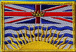 British Colombia Flag Patch, country flag patch british colombia, canadian state patch of british colombia