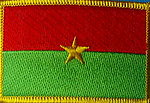 Burkina Flag Patch, Flag Country Patch Burkina