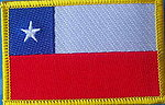 Chile Flag Patch, country flag patch chile, iron on patch chile flag