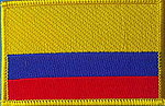 Colombia flag patch, sewn on patch colombia, iron on patch colombia