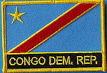 Congo Democratic Republic Flag Patch, Iron on Patch, Flag