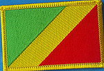 Congo flag patch, iron on patch congo. country patch congo