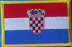 Croatia flag patch, country flag patch Croatia, Kroatien fahne