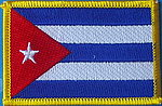 Country flag Cuba, Cuba flag patch, iron on patch cuba, sewn on patch of cuba