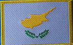 Cyprus country flag patch, Cyprus sewn on patch, Cyprus flag patch, Identity Patch Cyprus