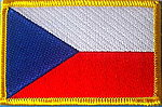Czech Republic flag patch, country patch Czech Republic, Iron on patch Czech Republic