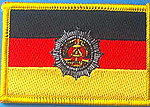 DDR flag patch, former east german flag patch