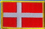 Denmark flag patch, sew on patch denmark, Denmark flag,country patch