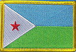 Djibouty Country flag patch, flag patch Djibouti, sew on patch Djibouti flag