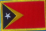 East Timor Flag patch, country patch east timor, iron on patch east timor
