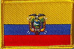 Ecuador Flag Patch, iron on patch Ecuador, Ecuadorian flag patch