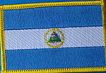 El Salvador flag patch, country flag patch El Salvador, Iron on patch El Salvador