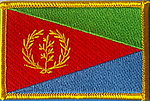 Eritrea Flagpatch, Iron on patch Eritrea, Eritrea country patch