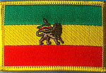 Ethiopia with Lion flag patch
