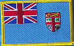 Fiji Country patch, flag patch fiji,