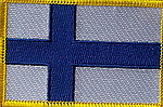 Finland country flag patch, flag patch finland, iron on patch finland