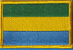 Gabon Flag Patch, iron on patch gabon, gabon identifications patch, aufhefter gabon