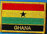 Ghana flag patch, Iron on Patch Ghana, ghana country flag patch