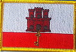 Gibraltar flag patch, country patch gibraltar