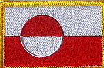 Greenland Flag Patch, country greenland patch, country patch greenland, iron on patch grenland