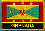 Grenada Flag patch, country flag patch grenada