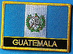 Guatemala flag patch, sewn of patch guatemala, guatemala patch