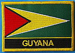 Guyana flag patch, country patch guyana, sew on patch guyana