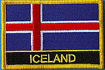 Iceland Flag Patch, country patch Iceland, Iceland iron on patch