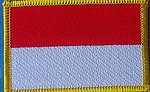 Indonesia flag patch, country patch indonesia