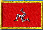 Isle of man flag patch, country patch isle of man, isle of man iron on patch