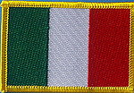Italy flag patch, country italy iron on patch, identification patch italy