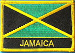 Jamaica iron on patch, country Hamaica Flag Patch, Jamaica indentifications patch